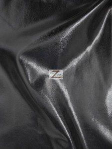 Black Metallic Foil Spandex Fabric