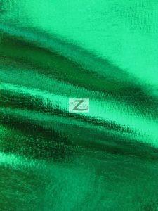 Green Metallic Foil Spandex Fabric
