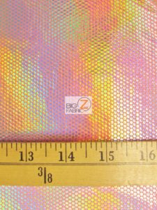Holographic Dotted 70's Spandex Fabric Measurement