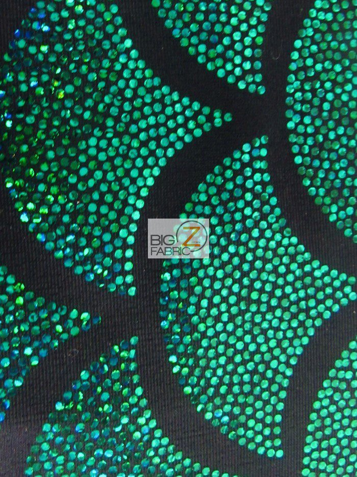 2 Tone Holographic Scale Spandex Fabric Green