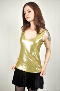 Shiny Gold Spandex Tank Top