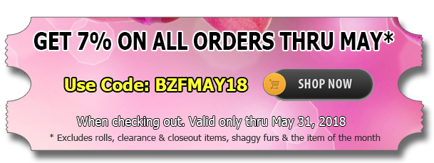 Big Z Fabric's May Spandex Discount!
