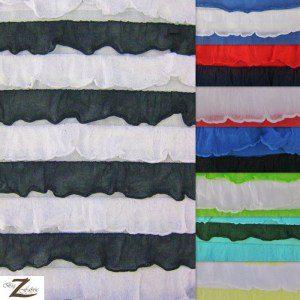 2 Tone Ruffle Nylon Spandex Fabric