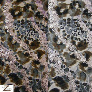Blaze Sequins Poly Spandex Fabric