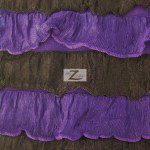2 Tone Ruffle Nylon Spandex Fabric Black Purple