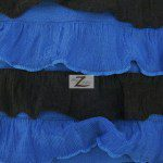 2 Tone Ruffle Nylon Spandex Fabric Black Royal
