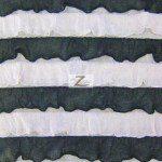 2 Tone Ruffle Nylon Spandex Fabric White Black
