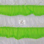 2 Tone Ruffle Nylon Spandex Fabric White Lime