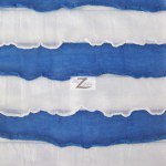 2 Tone Ruffle Nylon Spandex Fabric White Royal