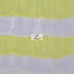 2 Tone Ruffle Nylon Spandex Fabric White Yellow