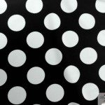 Big Polka Dot Nylon Spandex Fabric White