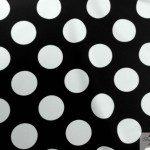 Big Polka Dot Nylon Spandex Fabric White