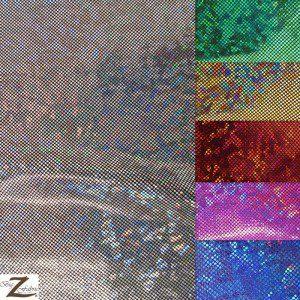 Crystal Hologram Nylon Spandex Fabric