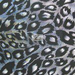 Cheetah Nylon Spandex Fabric Silver
