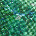 Crystal Hologram Nylon Spandex Fabric Forest Green