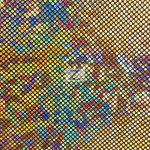 Crystal Hologram Nylon Spandex Fabric Gold