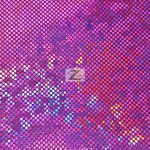 Crystal Hologram Nylon Spandex Fabric Magenta