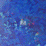 Crystal Hologram Nylon Spandex Fabric Royal Blue