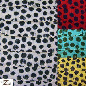Dalmatian Ruffle Poly Spandex Fabric