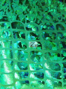 Croc Reptile Hologram Poly Spandex Fabric Kelly Green