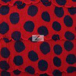 Dalmatian Ruffle Poly Spandex Fabric Red Black