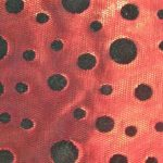 Flocked Foil Spandex Fabric Red