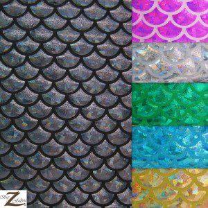 Hologram Scale Foil Nylon Spandex Fabric