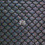 Hologram Scale Foil Nylon Spandex Fabric Black