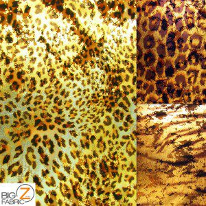 Animal Metallic Foil Spandex Costume Dress Fabric