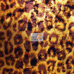 Animal Metallic Foil Spandex Costume Dress Fabric Cheetah
