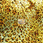 Animal Metallic Foil Spandex Costume Dress Fabric Leopard