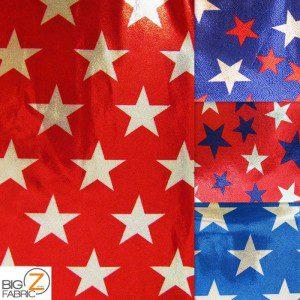 American Star Delight Foil Spandex Decorative Fabric