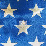 American Star Delight Foil Spandex Decorative Fabric Blue