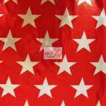 American Star Delight Foil Spandex Decorative Fabric Red