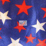 Mini American Star Delight Foil Spandex Decorative Fabric Purple