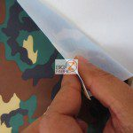 Army Camouflage Spandex Costume Fabric Backing