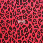 Leopard Splash Poly Spandex Fabric Neon Pink