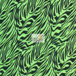 Zebra Velvet Poly Spandex Fabric Neon Green