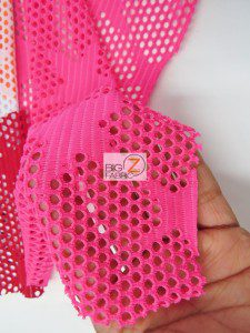 Star Fishnet Costume Spandex Fabric Close Up