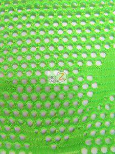 Star Fishnet Costume Spandex Fabric Neon Green