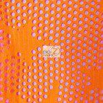 Star Fishnet Costume Spandex Fabric Neon Orange