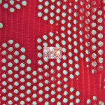 Star Fishnet Costume Spandex Fabric Red