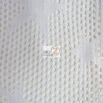 Star Fishnet Costume Spandex Fabric White