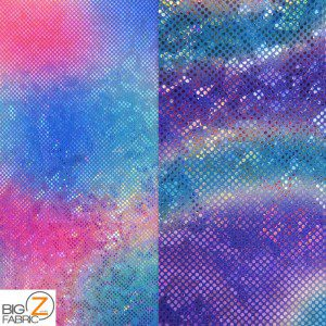 Volcano Foil Tie Dye Nylon Spandex Fabric