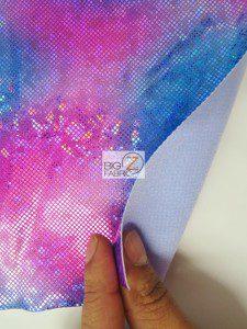Volcano Foil Tie Dye Nylon Spandex Fabric Backing