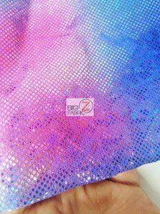 Volcano Foil Tie Dye Nylon Spandex Fabric Close Up