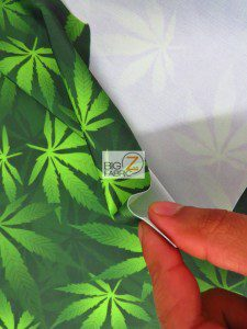 Cannabis Marijuana Spandex Fabric Backing