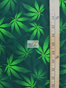 Cannabis Marijuana Spandex Fabric Measurement