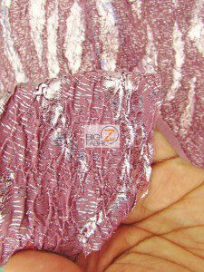 Double Knit Crinkle Metallic Stretch Puffy Fabric Close