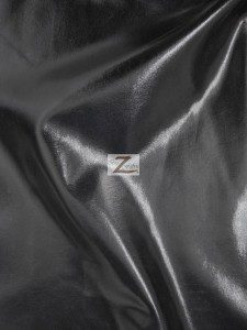 Black Metallic Foil Spandex Fabric